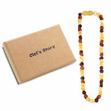 Baltic Teething Necklace Raw for Baby(Multicolor Raw) - 3 Sizes - Gift Box