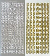 Lace Borders & Corners PEEL OFF STICKERS Delicate Corner Border Cardmaking