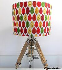 Hand Made Red, Green, Yellow and Orange Leaf Designed Lampshade