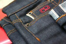 BNWT men's Japanese raw indigo blue Selvedge vintage classic slim tapered fit