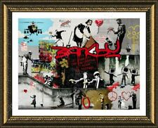 FRAMED Poster Unique Collage Always Hope Flower Thrower Cleaning Lady Pulp