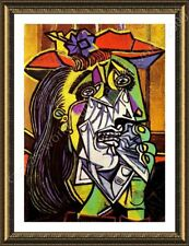 Alonline Art - FRAMED Poster Weeping Woman Pablo Picasso Framed Wall Art Giclee