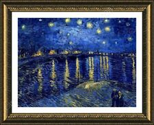 Alonline Art - FRAMED Poster Starry Night Over The Rhone Vincent Van Gogh