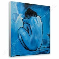 READY TO HANG CANVAS Blue Nude Pablo Picasso Oil Painting Print Framed Print