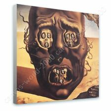 Alonline Art - READY TO HANG CANVAS The Face Of War Skull Salvador Dali