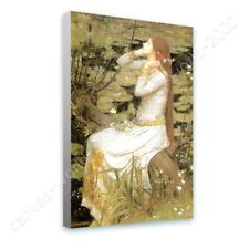 READY TO HANG CANVAS Ophelia Waterhouse Framed Wall Decor Oil Painting Print
