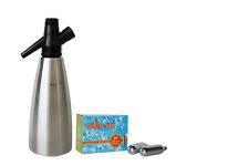 WHIP-EEZ SODA SIPHON DISPENSER & 20 SODA CHARGERS - MAKE SELTZER IN MINUTES !