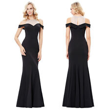 Off Shoulder Long Formal Evening Dress Celebrity Pageant Party Prom Gown 4~16