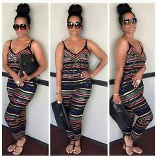 Sexy Women Sleeveless Bodycon Romper Jumpsuit Backless Playsuit Trousers Plus