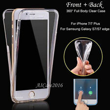 Shockproof Rubber Clear Full 360 Protective Case Cover for Apple iPhone 7/7 Plus