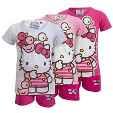 NEW Girls Hello Kitty 'Little Ducks' Cute 2 Piece Short Pyjama Set Ages 4-8yrs