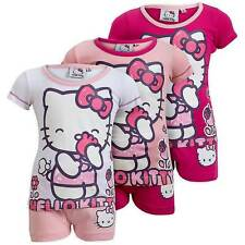 NEW Girls Hello Kitty 'Pretty Kitty' Cute 2 Piece Pink Short Pyjama Set Ages 2-6