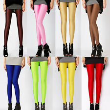 Women Girls Sexy Candy Colors Skinny Stretch Long Leggings Pants Slim Trousers
