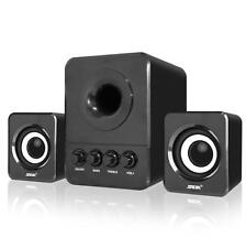 Multimedia Computer PC Desktop Laptop Speakers 2.1 3.5mm with Subwoofer