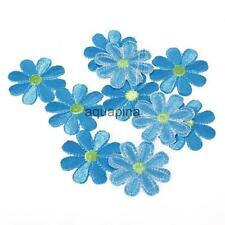 10pcs Embroidered Applique Flowers Patch Iron on/Sew Craft Clothes Decor