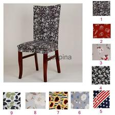 Home Cafe Elastic Dining Room Wedding Decorative Chair Cover Washable Slipcover