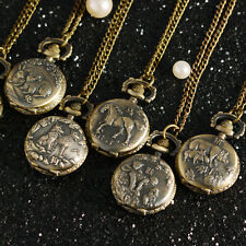 Lucky Animal Bless Birthday Gift Chinese Zodiac Bronze Watch Pocket Necklace