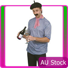 Adult Mens French Man Set Fancy Dress Costume Traditional Parisian France Outfit