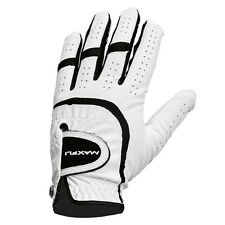 2x Maxfli ALL WEATHER RIGHT HAND GOLF GLOVE,WHITE/BLACK-Small, Medium Or X Large