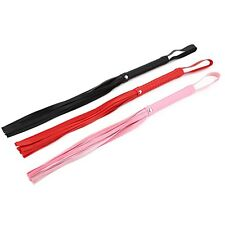 1pc 4colour PU Leather Whip Flogger Handle Handmade Tawse Game Whip Toy Cosplay