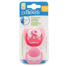 Dr Brown's Stage 2 Dummy 6 to 18 Months Twin Pack Soother Dr Browns