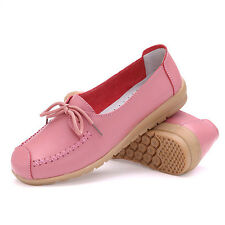 Womens Oxfords Shoes Comfortable Leather Ballet Loafers Moccasins Flats Casual