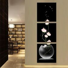 Frameless 3pcs Flower Abstract Canvas Print Painting Home Art Decoration Picture
