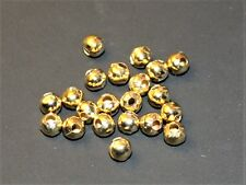 Gold plated shiny goldheads gold beads for flytying, 3mm,quantity 50