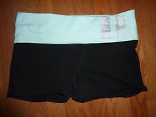 VICTORIAS SECRET PINK BLING YOGA SHORTIE FOLD OVER SHORTIE SHORTS NWT