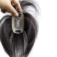 """2.8X4"""" Swiss Mono Top Piece Real Human Hair Topper Clip in Hair Piece 6""""8""""10""""12"""""""