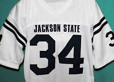 WALTER PAYTON JACKSON STATE UNIVERSITY FOOTBALL JERSEY WHITE NEW SEWN ANY SIZE