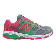 New Balance 680v3 GIRL'S RUNNING SHOES, GREY/PINK*USA Brand-Size US 4, 5, 6 Or 7