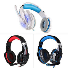 3.5mm Wired Stereo Pro Gaming Headset LED Headband Headphone With MIC For PS4 PC
