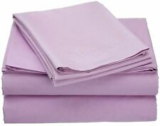 1000TC/1200TC 100%EGYPTIAN COTTON  ALL US SIZES ALL BEDDING ITEMS LILAC SOLID