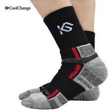Socks Cycling Running New Women Bike Men Size Coolmax Spin Class Hiking Gym New