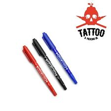 TATTOO / PIERCING Skin Marking Pen - Double Ended Marker Fine & Thick Tip