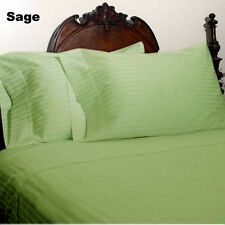 SAGE STRIPED 1000 TC SOFT  EGYPTIAN COTTON US SIZE HIGH DEEP POCKET BED SETS