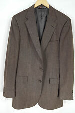 AUSTIN REED Brown Sport Coat Blazer Jacket Men's 42R 100% Tweed Wool #ma17