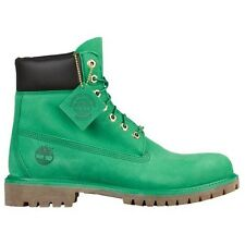 Timberland Men's 6 Inch Premium Waterproof Leather Classic Boots Shoes Green