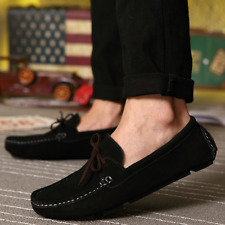 Fashion Mens Loafers Driving Moccasins casual soft suede leather dress shoes