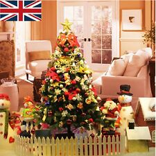 Artificial Golden/Green Decorations Christmas Pine Tree Xmas 5/6ft Home Outdoor