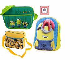 Despicable Me Minions High Quality Messenger Crossbody 3D Backpack Rucksack Bag