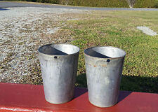 2 Nice OLD TIN Sap Buckets BUCKET FLOWERS PLANTERS!