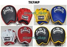 TOP KING FOCUS MITTS TKFMP SMALL GENUINE LEATHER MUAY THAI KICK BOXING MMA
