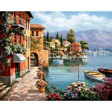 Handpainted Oil Painting By Numbers Venice Resort Living Room Home Decor Artwork