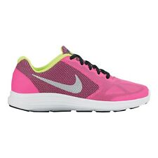 Nike Revolution-3 GIRL'S RUNNING SHOES, PINK/BLACK *USA Brand - Size US 6 Or 7