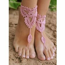 Bridal Wedding Foot Jewelry Crochet Barefoot Anklet Knit Anklet Sandals Beach