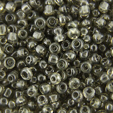 50g/150g Grey Transparent Glass Round Seed Beads11/0 2mm