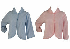 Ladies Floral Lace Style Bed Jacket Womens Peter Pan Collar Button Up House Coat