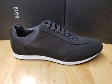 BOSS HUGO BOSS BLACK  Lace Up Leather Trainers Full Time Lowp Nuny In Blk